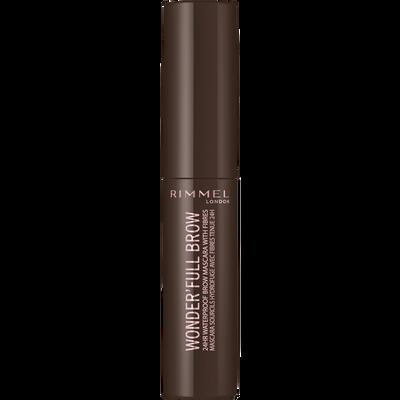 Mascara wonderfull 24hr brow 003 dark brown RIMMEL, blister