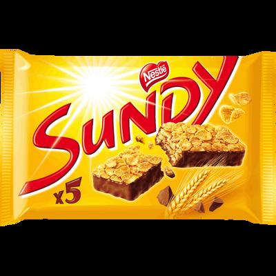 Barres de corn flakes nappées de chocolat SUNDY, 5 pièces, 180g