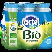 Lactel Lait Demi-écrémé Bio Uht Lactel, 6x1l