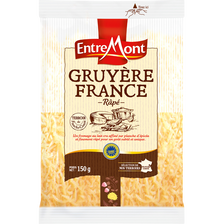Entremont Gruyère De France Râpé Igp Au Lait Cru, , 32% De Mg, Sachet De 150g