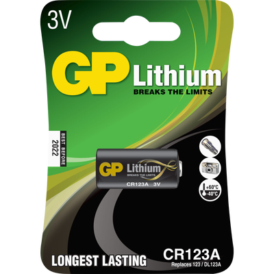 PILE LITHIUM GP 3702 CR123A-SOUS BLISTER