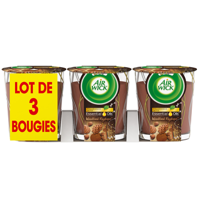 Bougie edition limitée epice AIR WICK x3