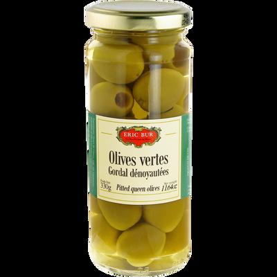 Olives vertes gordal dénoyautées ERIC BUR, 163g