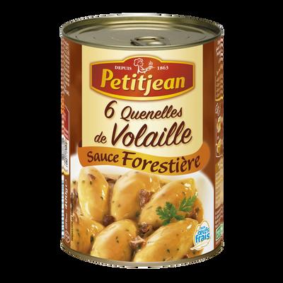 Quenelle volaille sauce champignon PETIT JEAN, boîte 1/2 de 400g