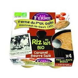 Riz ai lai caramel au beurre salé bio 4x125gr Le p'tit gallo