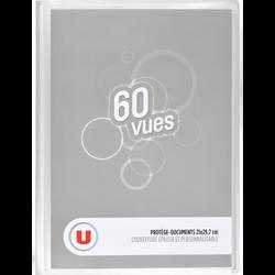Protège document 60 vues, format A4, coloris assortis