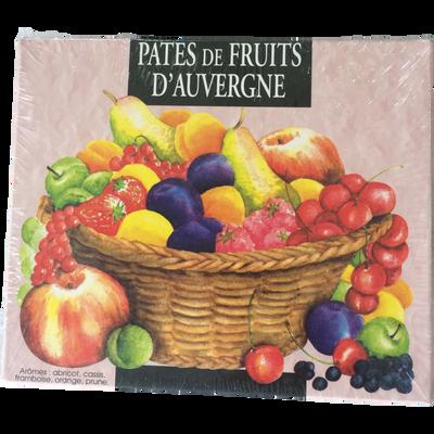Pâte de fruits d'Auvergne Aquarelle MOINET, boite de 1 kg