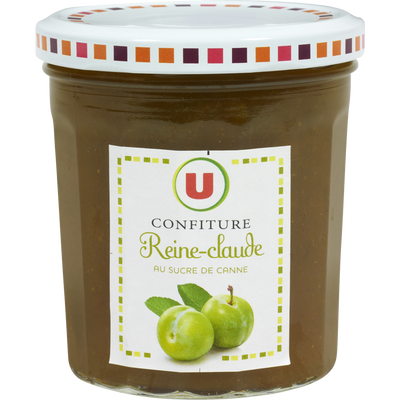 Confiture de reine Claude 50% de fruits U, pot de 370g