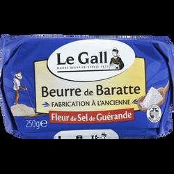 Beurre de baratte à la fleur de sel de Guérande fabrication à l'ancienne LE GALL, , 80%mg, 250g