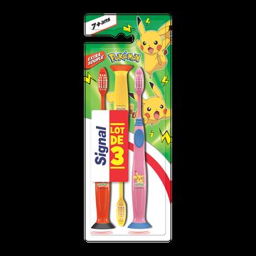 Signal Brosses À Dents Enfant 7 Ans+ Signal Pokémon, Extra Souple, , X3