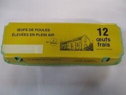 OEUFS FRAIS DE POULES ELEVEES EN  PLEIN AIR, CALIBRE MOYENS, PHELIPPEAU, X12