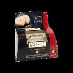 Bloc de foie gras de canard IGP avec 30% de morceaux LABEYRIE, 300g