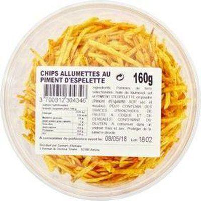 Chips allumettes au piment d'espelette 160g