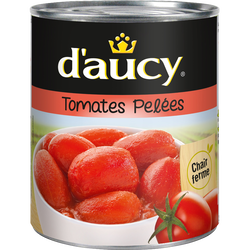 Tomates entières pelées au jus D'AUCY, boîte de 476g