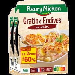 Gratin d'endives au jambon FLEURY MICHON, x2 (2e-60%), 560g