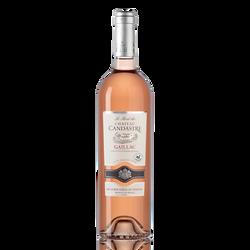 Vin rosé Gaillac AOP Château Candastre 2019, bouteille de 75cl