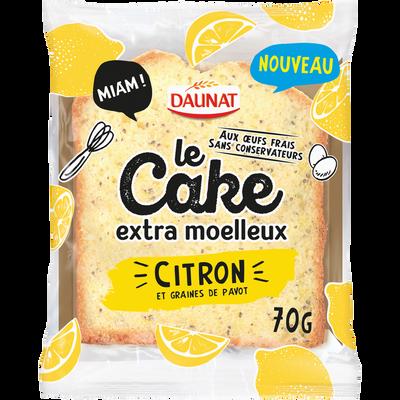 Cake au citron et graines de pavot DAUNAT, 70g