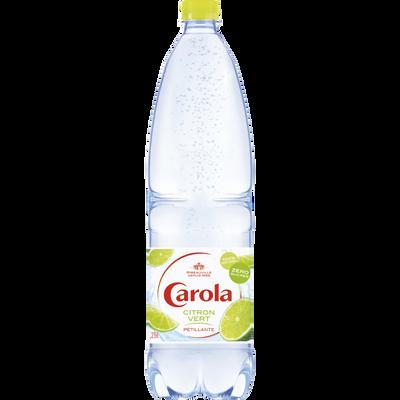 Eau gazeuse arômatisée citron vert CAROLA, bouteille en plastique de1,25l