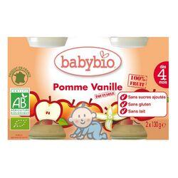 BABYBIO POMME VANILLE 2X130G
