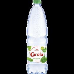 Eau de source gazéifiée arômatisée à la menthe CAROLA 1,25l litre