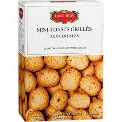 Mini toasts grillés aux 6 céréales ERIC BUR, 150g