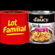 D'aucy Wok Legumes Thai D'aucy, 2 Boîtes De 290g