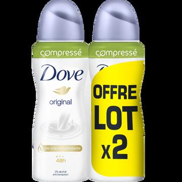 Dove Déodorant Compressé Original Dove, 2x100ml