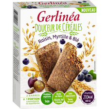 Barres substitut repas raisin & myrtille GERLINEA, 248g
