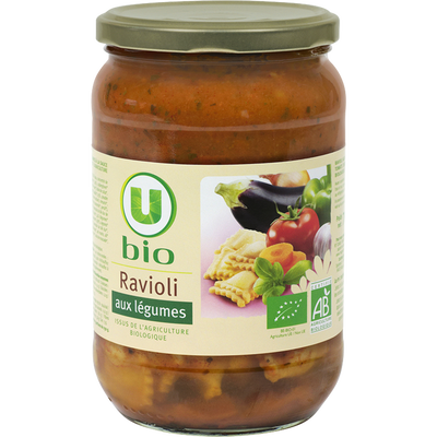 Ravioli aux légumes Bio U, 700g