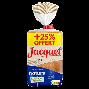 Jacquet Pain Mie Maxi Tranches Nature Jacquet, 50g+25% Offert