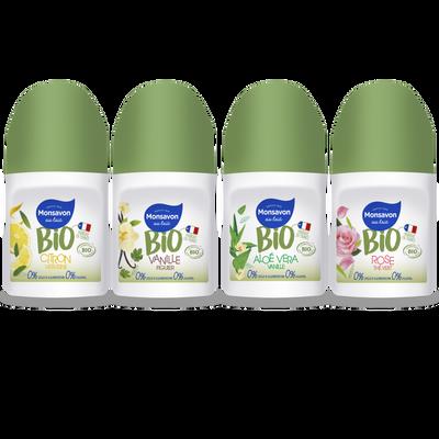 Déodorant vanille fleur de figuier bio 0% sels d'aluminium MONSAVON, atomiseur de 150ml