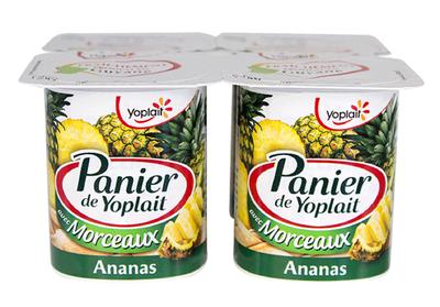 Panier de Yoplait, Ananas 125g x 4