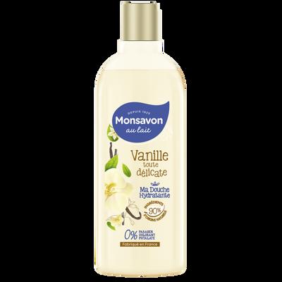 Douche lait hydratant vanille MONSAVON, flacon de 300ml