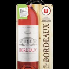Vin rosé AOP Bordeaux La Grande Lice U, fontaine à vin de 5l