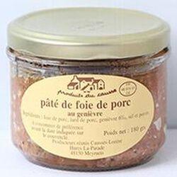 Pâté de foie au genièvre, Produits du causse, 180g