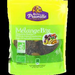 Mélange (amandes, raisins, noix de cajou, cranberries), BIO, sachet, 150g