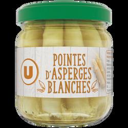 Pointes d'asperges blanches U, bocal de 110g, 21cl