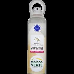 Brume huiles essentielles fleur de vanille orchidée sans allergènes MAISON VERTE, 200ml