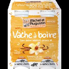 Vache à boire vanille de Madagascar MICHEL&AUGUSTIN, 4pots x100g