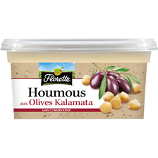 Houmous olives noires, FLORETTE, barquette 175g
