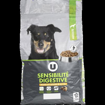 Croquette premium pour chien sensibilité digestive, poulet et riz U, paquet de 4kg