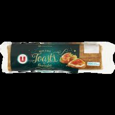 Toasts ronds au seigle spécial saumon U, paquet de 300g