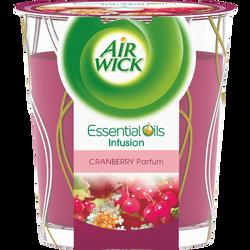 Bougie essentials oils décorée parfum cranberry AIR WICK
