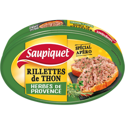 Rillettes de thon aux herbes Provence SAUPIQUET, boîte de 115g
