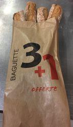 Baguette  La Clermontaise , 4x250g dont 1 offerte