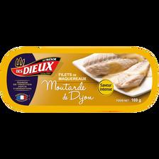 Filets de maquereaux sauce moutarde LES DIEUX, 169g