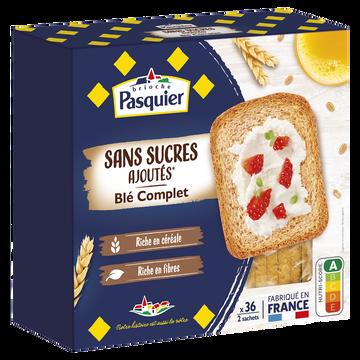 Pasquier Biscottes Au Blé Complet Sans Sucre Ajouté Brioche Pasquier, X36 Soit300g