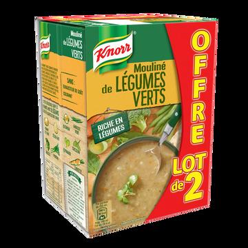 Knorr Soupe Moulinée De Légumes Verts Knorr, 2x1l