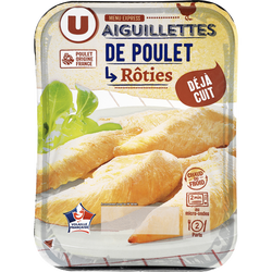 Aiguillette de poulet rôtie, U, barquette, 240g