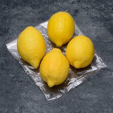Citron jaune Primofiori, calibre 4, catégorie 1, non traité après récolte, Espagne, sachet 4 fruits